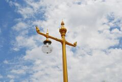Lamp mounted on a high light pole