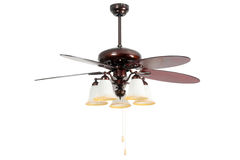 Lamp with mounted propeller Royalty Free Stock Image