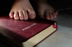 Lamp for my feet. Your word is a lamp for my feet, a light on my path Stock Images
