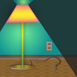 Lamp of Mystery. An unplugged floor lamp is featured Royalty Free Stock Photography
