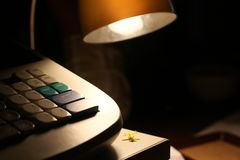 Lamp by night Stock Photography