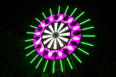 Lamp on night sky Stock Photography