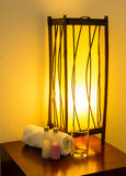Lamp on a night table. Royalty Free Stock Images
