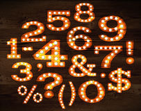 Lamp numbers and symbols old style Royalty Free Stock Photography