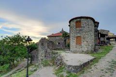 Lamp- och stenbyggnader i mummel, Kroatien Royaltyfri Bild