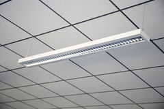 Lamp  in office ceiling Royalty Free Stock Image