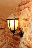 Lamp in  an old castle Royalty Free Stock Photos