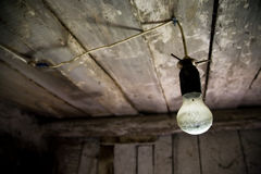 Lamp in old wooden house Royalty Free Stock Photos