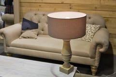 Lamp op de lijst Royalty-vrije Stock Afbeelding