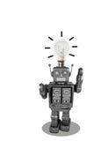 Lamp op hoofdstuk speelgoed op witte achtergrond royalty-vrije stock afbeelding