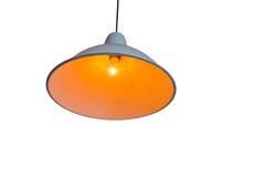 Lamp op plafond of Binnenlandse Verlichting op witte achtergrond stock afbeelding