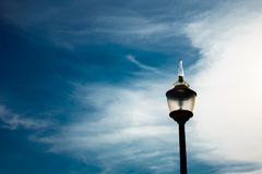 Lamp outdoor with sky blue at outdoor. royalty free stock photo