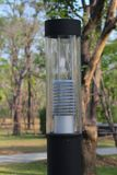 Lamp in the park. A modern style electronic lamp in the park Stock Photo