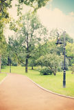 Lamp in the park,tinted Royalty Free Stock Photos