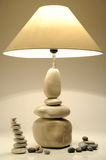 Lamp pebbles. Lamp in form of pebbles pyramid stock photography