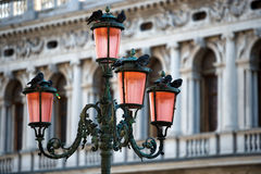 Lamp on Piazza San Marco in Venice Stock Images