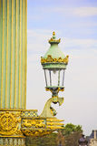Lamp in the Place de la Concorde square, Paris Royalty Free Stock Photography