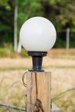 Lamp pole fence Stock Photos