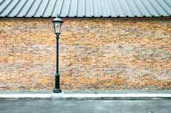 Lamp pole at the road Royalty Free Stock Photos