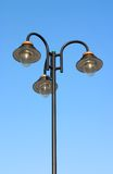 Lamp Post. With three lamps stock image