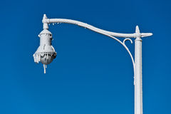 Lamp post. Firefighters sprayed this post at 29 celsius autdoor temp. water froze instantly on it Royalty Free Stock Image