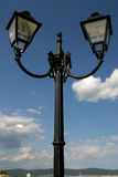 Lamp post. On a street with electric bulbs; Nessebar, Bulgaria Stock Images