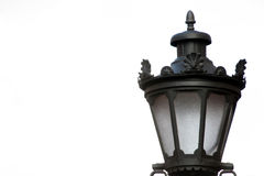 Lamp post. Light in closeup stock photo