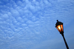 Lamp Post. Against evening sky stock photo