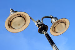 Lamp post. An aged and oxidise lamp post Royalty Free Stock Photo