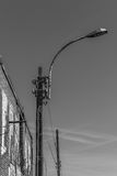 Lamp post. In black and white Royalty Free Stock Photography