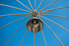 Lamp post and blue sky Royalty Free Stock Photography