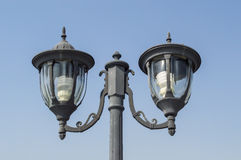 Lamp post with blue sky Stock Images