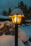 Lamp post covered in snow Stock Images