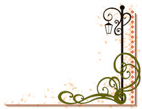 Lamp Post Decorative Flourish stock illustration