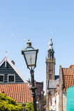 Lamp post in Edam Royalty Free Stock Image