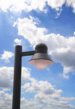 Lamp post electricity. Industry on blue sky stock photos