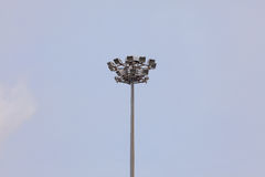 Lamp post electricity industry  against blue sky. Stock Photos