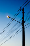 Lamp Post in the morning Stock Image