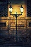 Lamp post at night, Prague, Czech Republic, Europe Royalty Free Stock Photo