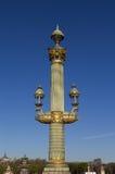 Lamp post in Paris Stock Photos