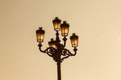 Lamp post. A lamp post from the Plaza Mayor, Madrid royalty free stock image
