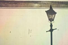 Lamp post shadow Stock Photo
