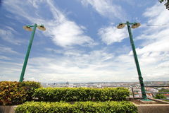Lamp post with sky Royalty Free Stock Photography