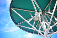 Lamp post in the sky Stock Photography