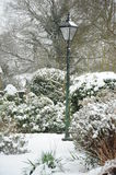 Lamp post in the Snow Stock Image