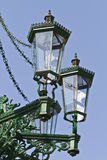 Lamp-post storico del gas a Praga Immagine Stock Libera da Diritti