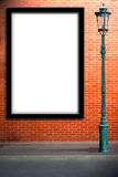 Lamp post street and blank billboard Stock Images