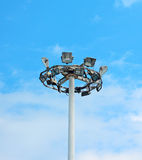 Lamp post under clouds Royalty Free Stock Photos