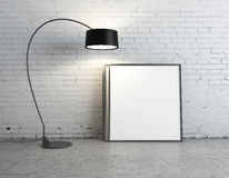 Lamp and poster Stock Image