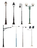 Lamp posts collection royalty free stock photo